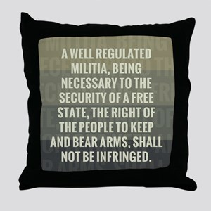 The Second Amendment Throw Pillow